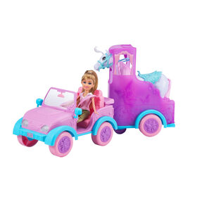 Sparkle Girlz Horse Trailer with Doll