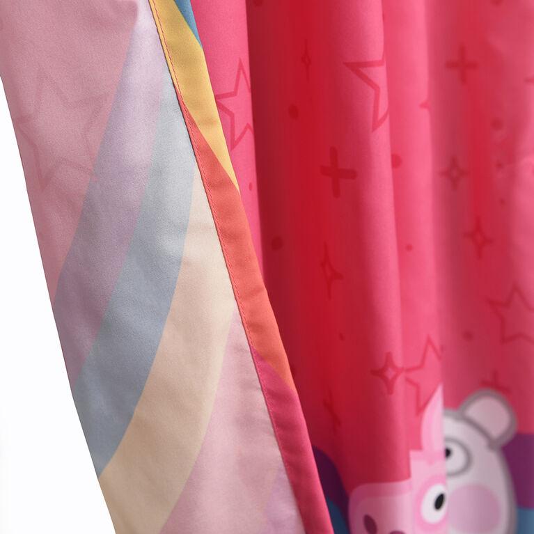Peppa Pig Kid's Bedroom Window Curtains (Set of 2 Panels)