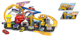 Dragon Wheels - City Track Playset - Includes 8 Vehicles