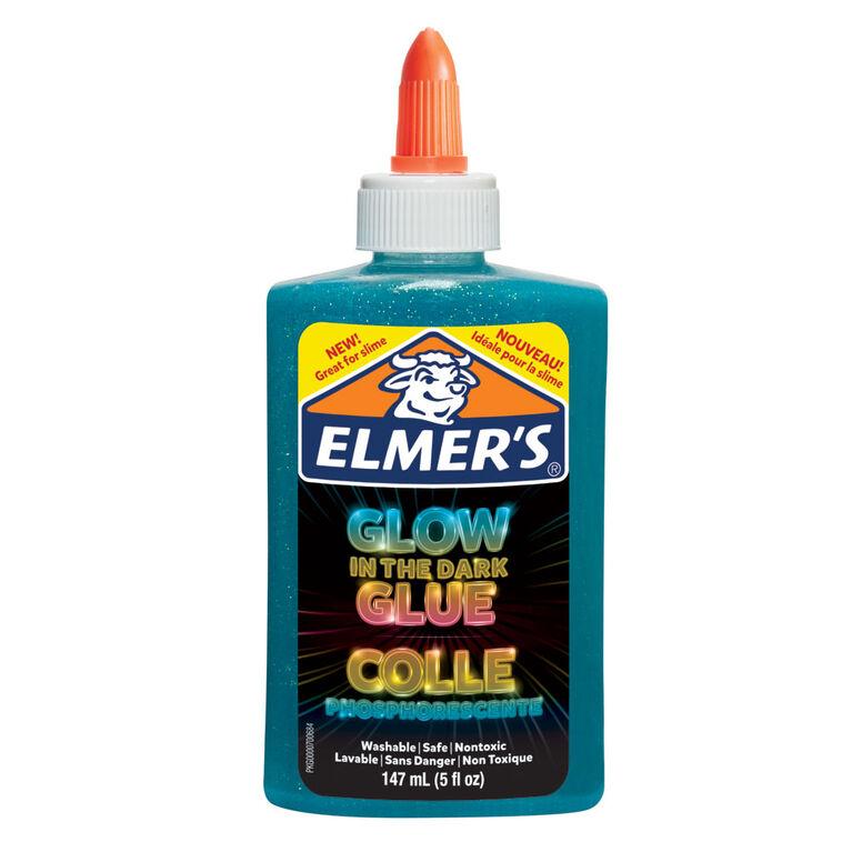 Colle phosphorescente d'Elmers, bleu