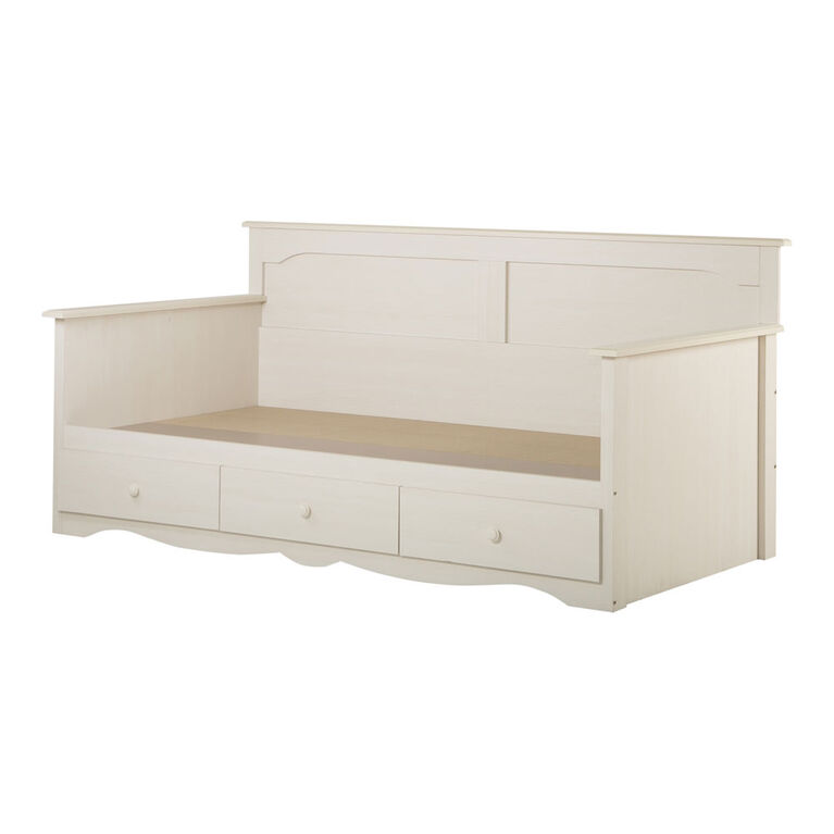 Summer Breeze Daybed with Storage- White Wash