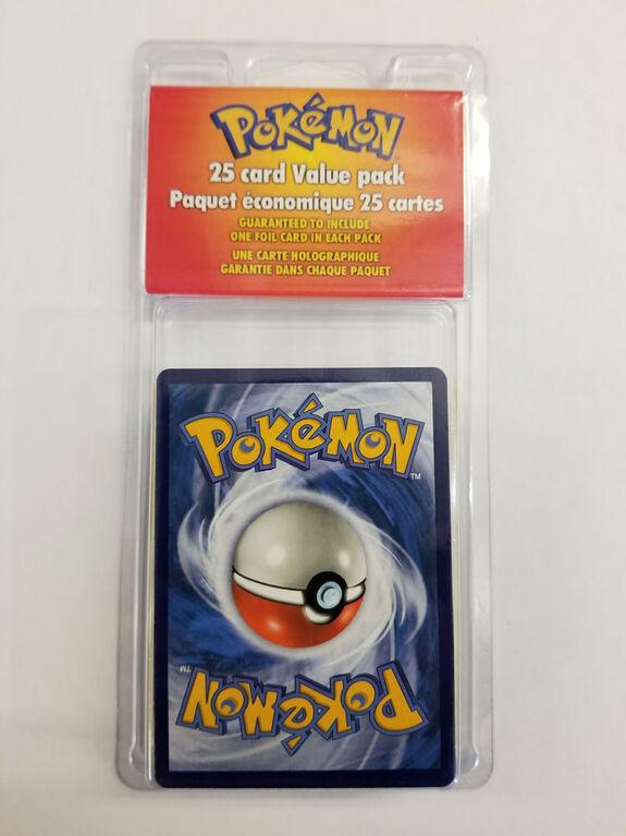 Paquet économique de 25 cartes Pokémon