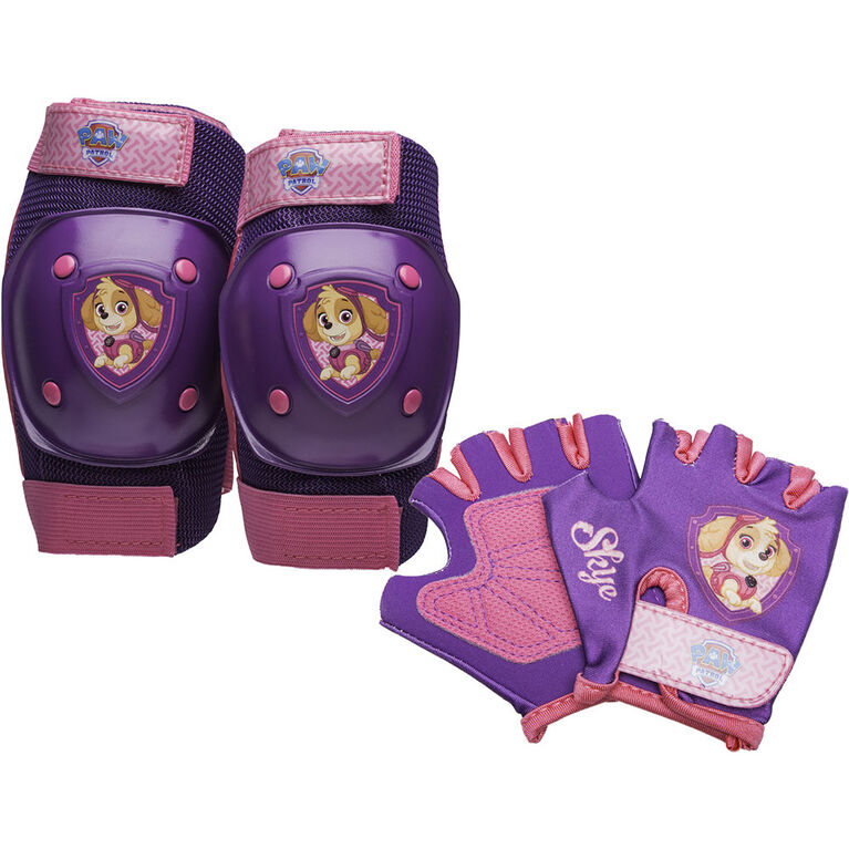 PAW Patrol - Kids Bike Pad & Glove Set - Skye