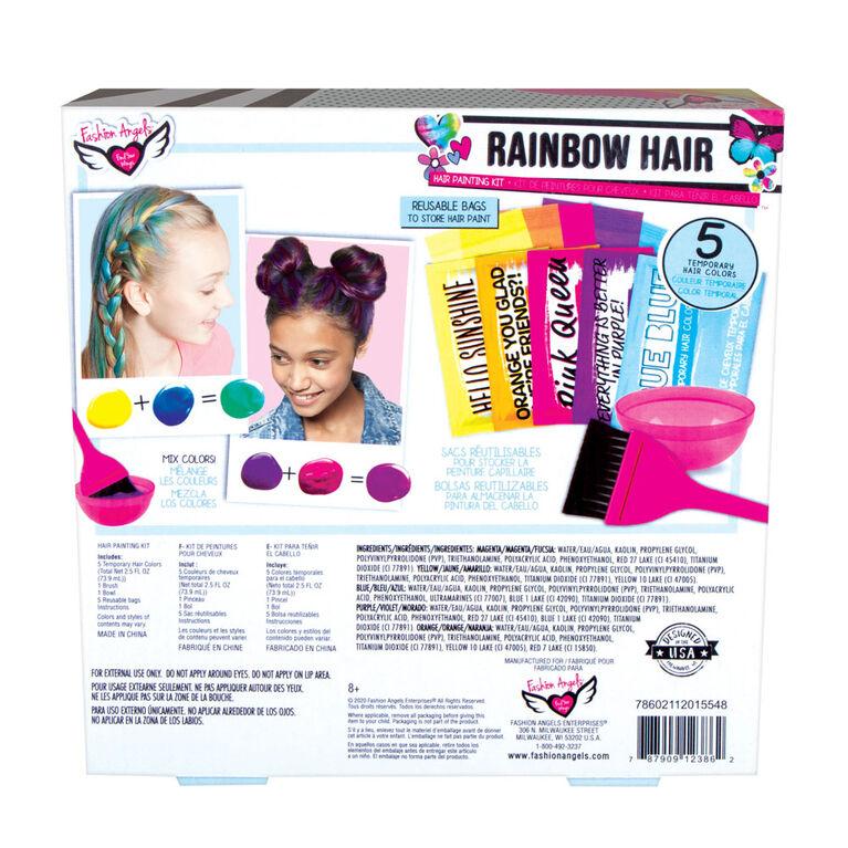 Kit peinture cheveux arc-en