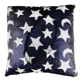 Style Lab Magic Sequin Pillow - Star & Moon