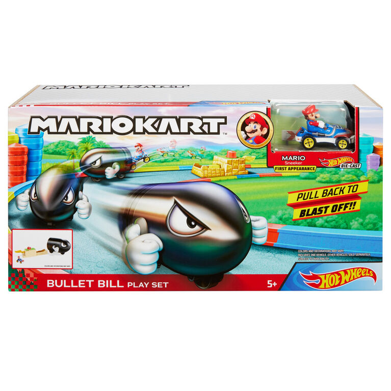 Hot Wheels Mario Kart Bullet Bill Playset