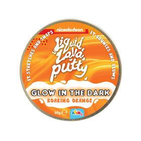 Nickelodeon Liquid Lava Putty Glow In The Dark Roaring Orange