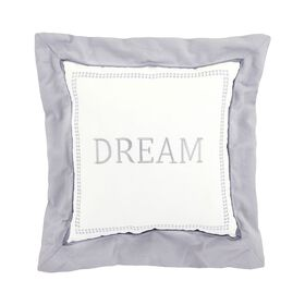 Just Born Dream Dream Throw Pillow - Grey