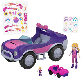Polly Pocket Doll and SUV Vehicle