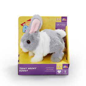 Pitter Patter Pets - Teeny Weeny Bunny Grey and White - Notre exclusivité - Édition anglaise