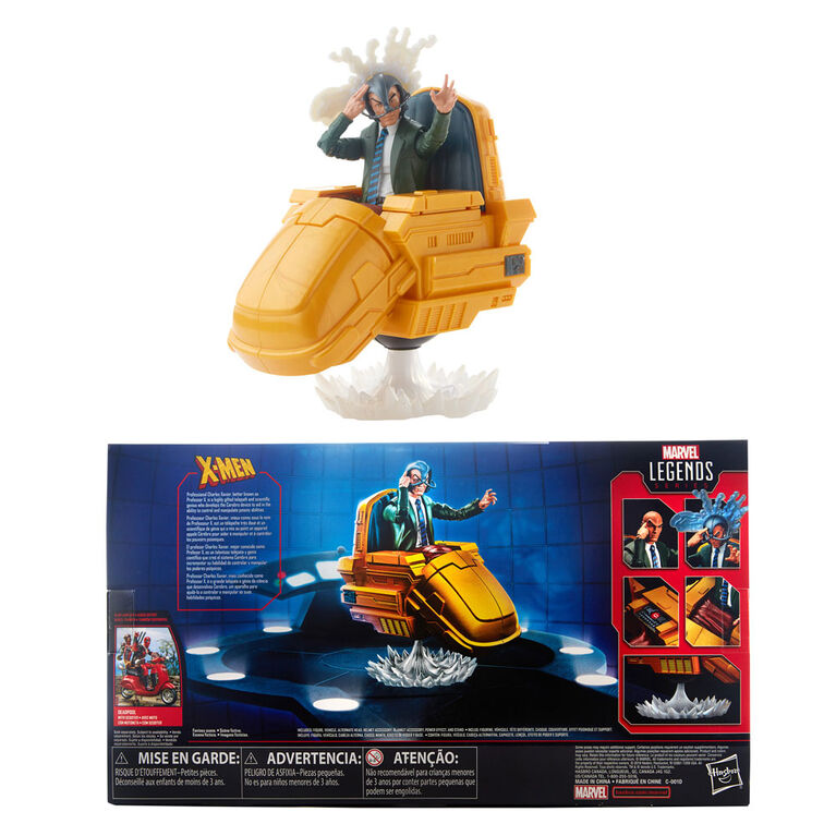 Série Marvel Legends - Figurine Professeur X de 15 cm avec chaise flottante