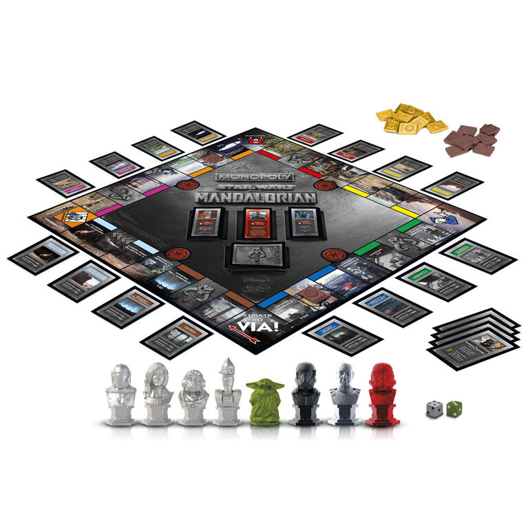 """Monopoly: Star Wars The Mandalorian Edition Board Game, Protect The Child (""""Baby Yoda"""") From Imperial Enemies - English Edition"""