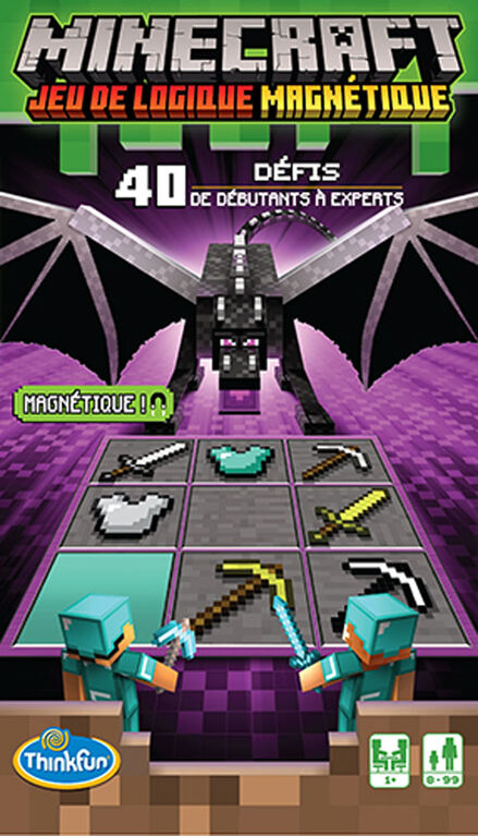 Thinkfun - Jeu de voyage magnétique Minecraft - Édition française