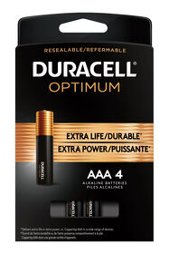 Duracell Optimum AAA Batteries 4 Count Pack | Long Lasting Power Triple A Battery