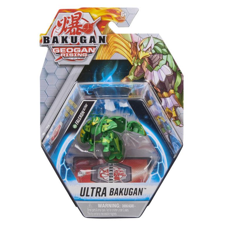 Bakugan Ultra, Falcron, 3-inch Tall Geogan Rising Collectible Action Figure and Trading Card