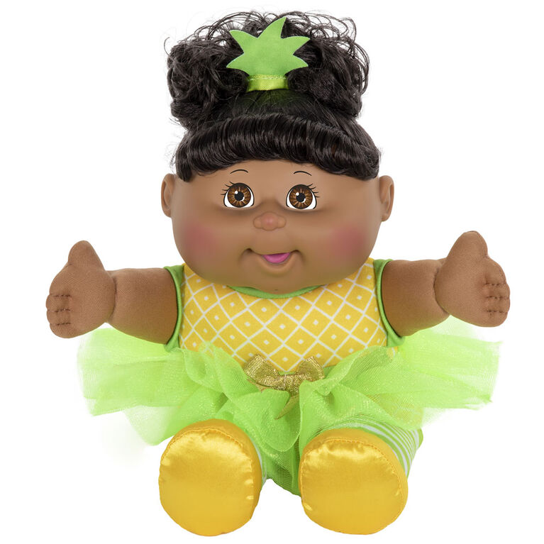 Cabbage Patch Sitting Pretty African American Doll - Pineapple Dress