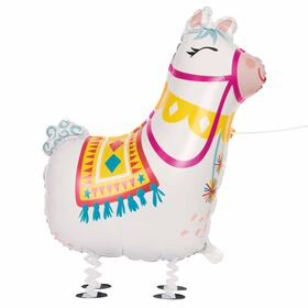 Walking Pet Llama Foil Balloon