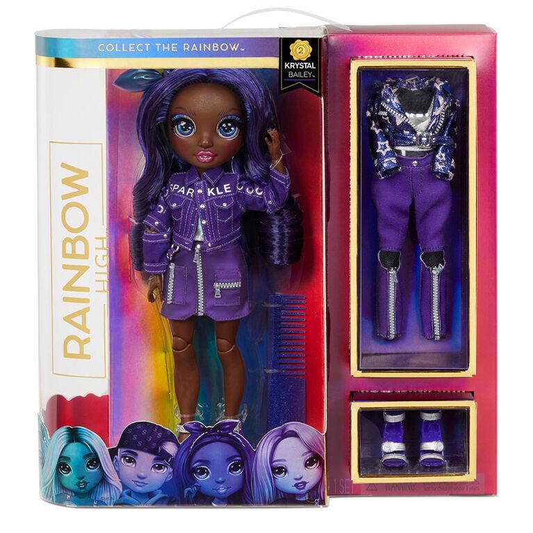 Rainbow High Krystal Bailey – Indigo (Dark Blue Purple) Fashion Doll with 2 Complete Mix & Match Outfits