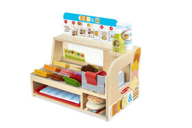 Melissa & Doug Wooden Slice & Stack Sandwich Counter - English Edition - styles may vary