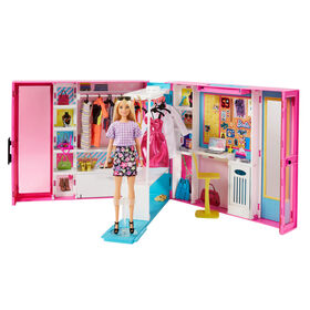 Barbie Dream Closet with Blonde Barbie Doll & 25+ Pieces