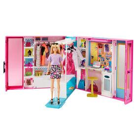 Barbie-Dressing Deluxe-Poupée Barbie blonde et plus de 25 accessoires