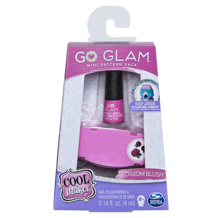 Cool Maker, GO GLAM Blossom Blush Mini Pattern Pack Refill, Decorates 25 Nails with the GO GLAM Nail Stamper