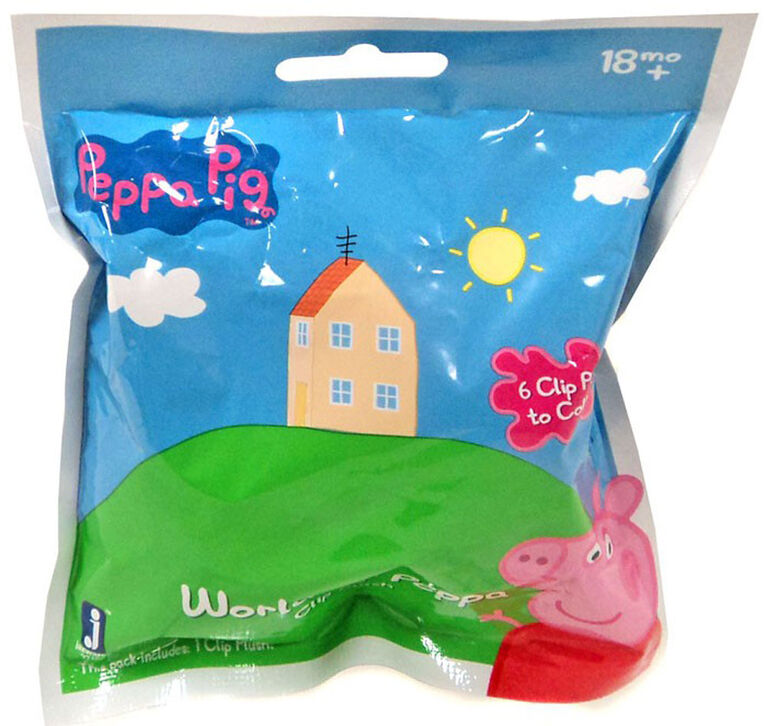 Peppa Pig Plush Clip - Styles and Characters May Vary