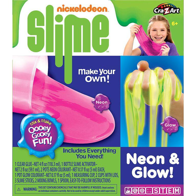 Ensemble de glu Nickelodeon neon et brillant.
