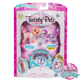 Twisty Petz, Series 2, Pack de 3 - Bijoux à collectionner Tickles Tiger, Pixiedust Puppy et animal surprise.