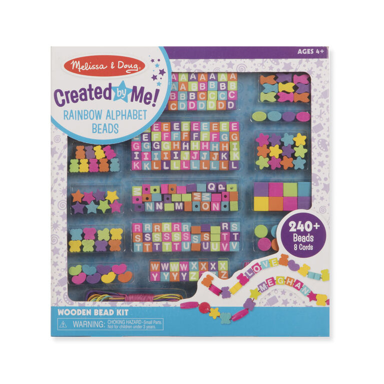 Melissa & Doug Created by Me! Rainbow Alphabet Beads Wooden Bead Kit