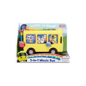 Autobus musical 3 en 1 Little Baby Bum avec chansons, xylophone et véhicule à pousser