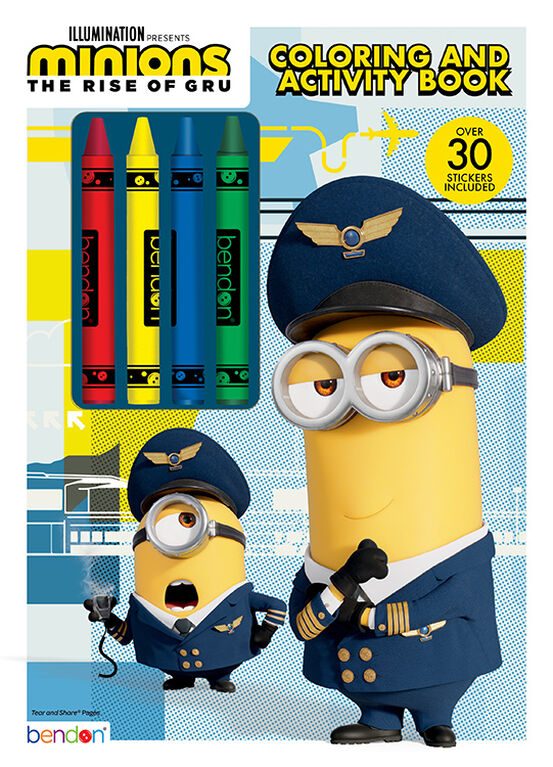 Minions Color With Crayons - English Edition