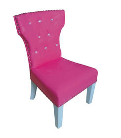 Fuchsia Chair with Studs