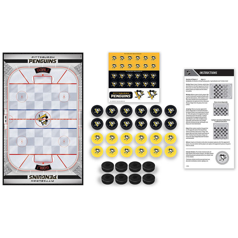 Pittsburgh Penguins Checkers Board Game
