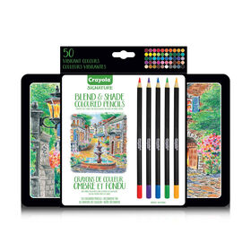 Crayola Signature Blend & Shade Coloured Pencils - 50 Count