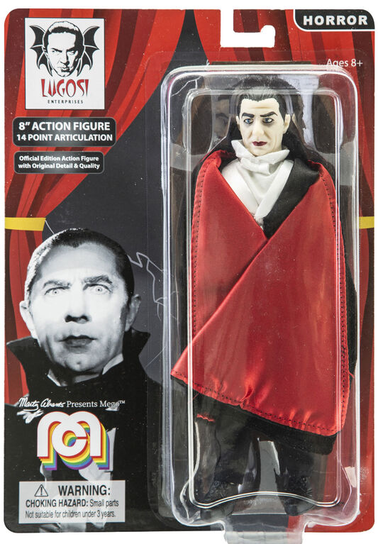 "Dracula w/ Red Lining Cape 8"" figure"