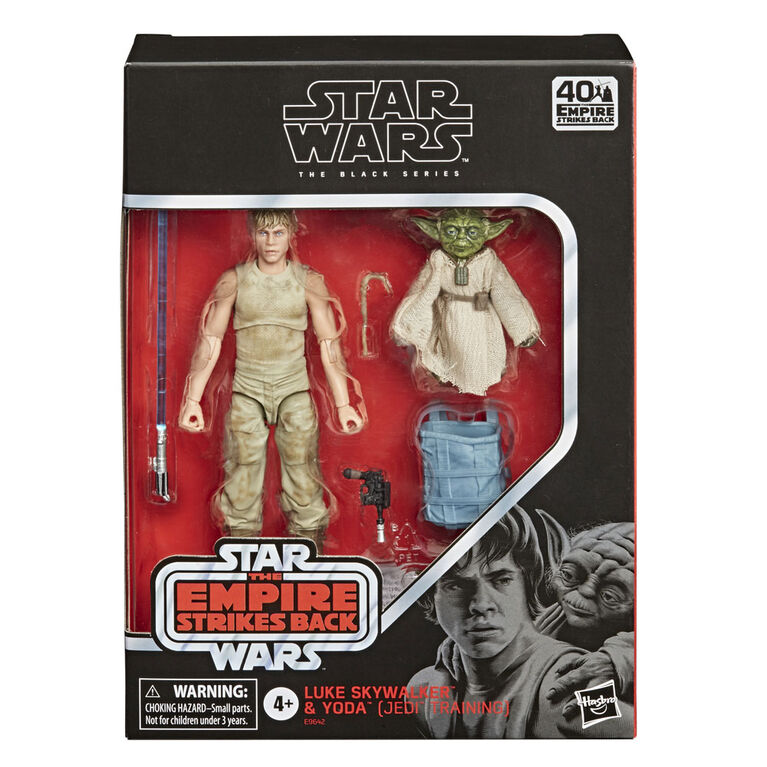 Star Wars The Black Series Luke Skywalker and Yoda (Jedi Training) 6-Inch-Scale Star Wars: The Empire Strikes Back 40th Anniversary Figures
