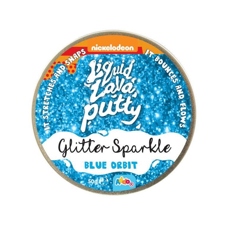 Nickelodeon - Pâte Liquid Lava Putty Glitter Sparkle - Blue Orbit (bleu)