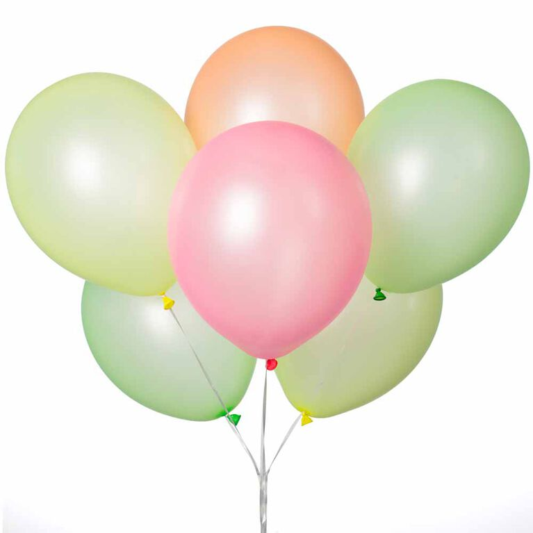 """12"""" Latex Balloons, 10 pieces - Neon Colors"""