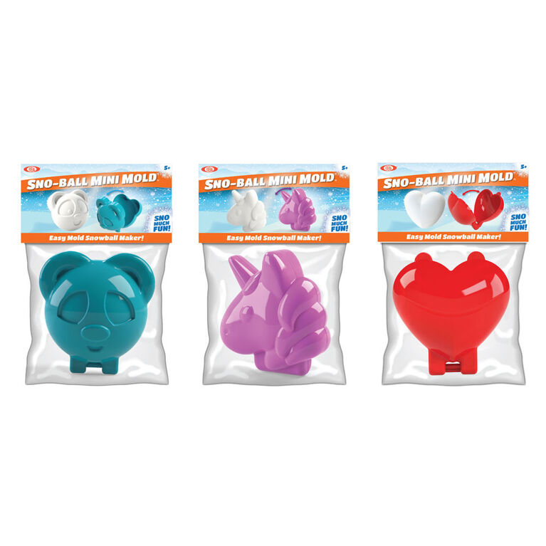 Ideal Sno Toys Sno-Ball Mini Mold - Sold Separately Colours Vary