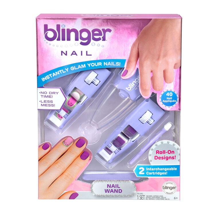 Blinger Nail Wand - Watermelon & Purple Glitter
