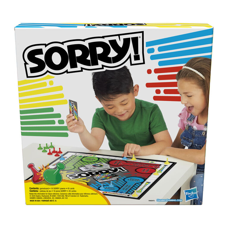 Hasbro Gaming - Sorry! - styles may vary