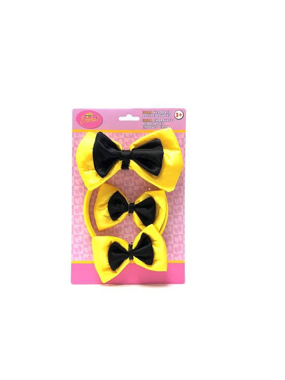 The Wiggles Emma's Headband & Shoe Bow Set