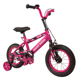 Rugged Racer 16 Inch Kids Bike with Training Wheels- Pink - English Edition