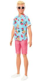 Poupée Ken Barbie Fashionistas152, - chemise à imprimé tropical