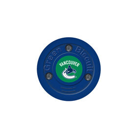 Green Biscuit NHL Team Puck - Vancouver Canucks