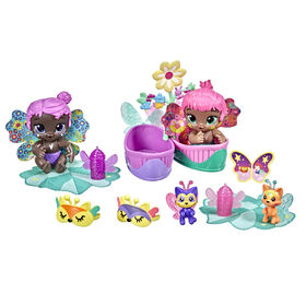 Baby Alive Glo Pixies Minis Dolls, Sleepy Twins, 2 Glow-In-The-Dark 3.75-Inch Pixie Toys - R Exclusive
