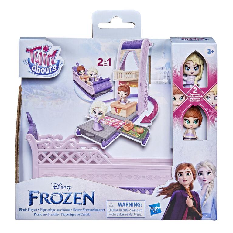 Disney La Reine des neiges 2 Twirlabouts, Pique-nique au château, de traîneau à château