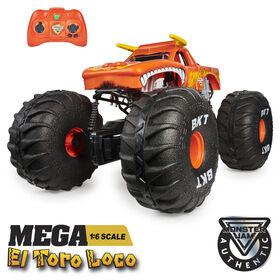 Monster Jam, Official MEGA El Toro Loco, All-Terrain Remote Control Monster Truck, 1:6 Scale