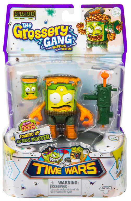 The Grossery Gang Time Wars Wave 2 Action Figure – Bad Beans Shooter